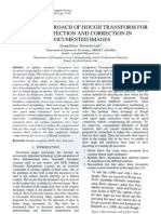 Modified Approach of Hough Transform for Skew Detection and Correction in Documented Images