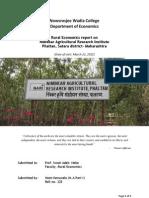 NARI Phaltan Rural Visit Report