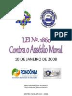 LEI Nº 1860 - Contra o Assédio Moral - Serviço Público de RO