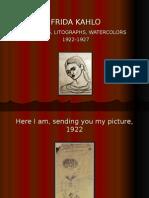 Frida Kahlo - Sketches, Litographs Watercolors (1922-1927)