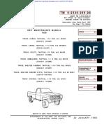 ARMY TM 9-2320-289-20 Mantainance Truck (Chevy) 1-¼ TON 4X4 Tactical Nov95