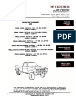 ARMY TM 9-2320-289-20 Operator Manual Truck (Chevy) 1-¼ TON 4X4 Tactical Vehicle May92
