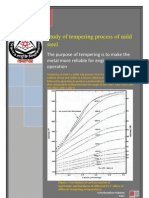 Study and Operation of Tempering Process