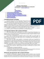 Enfoque Constructivista Roles Componentes Evaluacion