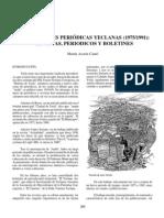 Publicaciones periódicas yeclanas (1975-1991). Revistas, periódicos y boletines