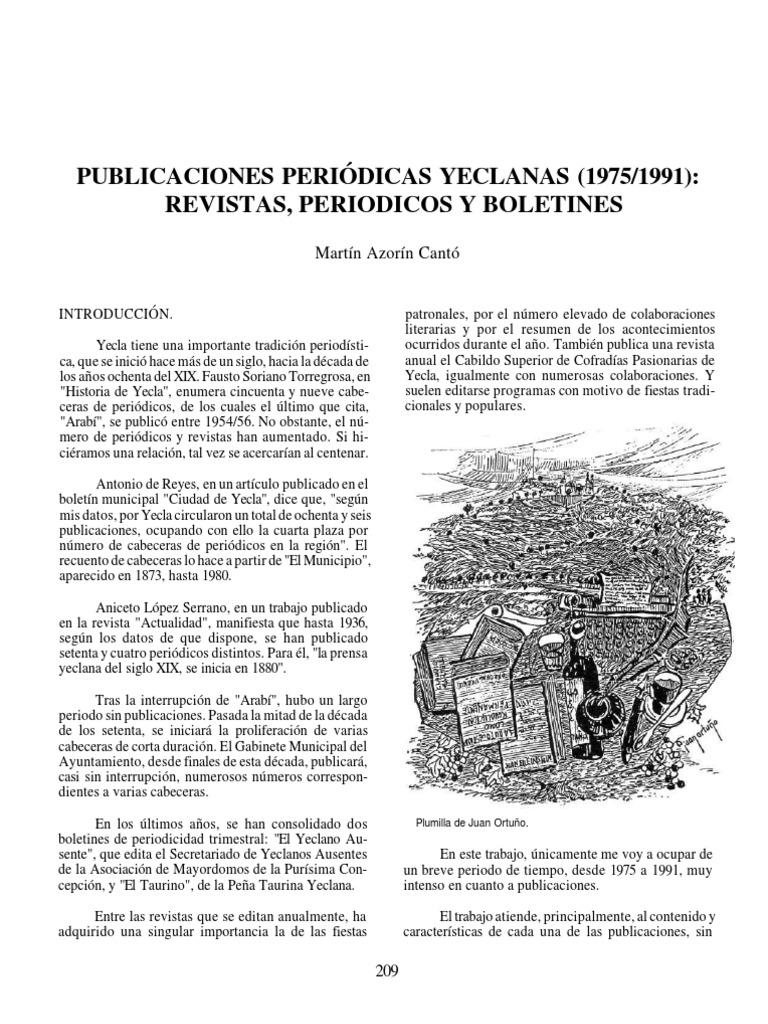 Publicaciones periódicas yeclanas (1975-1991). Revistas, periódicos ...
