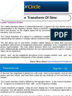 Fourier Transform of Sine