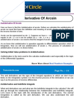 Anti Derivative of Arcsin