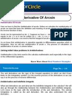 Anti Derivative of Arcsin