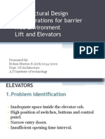 Barrier Free Considerations for Vertical Circulation in a Building