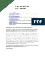 Esbozo Para Una Historia Del Anarquismo en Colombia