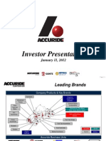 Accuride Corporation at Deutsche Bank 2012 Global Auto Industry Conference