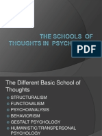 P2 Schools of Thoughts in Psychology