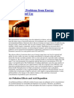 Air Pollution From Energy System