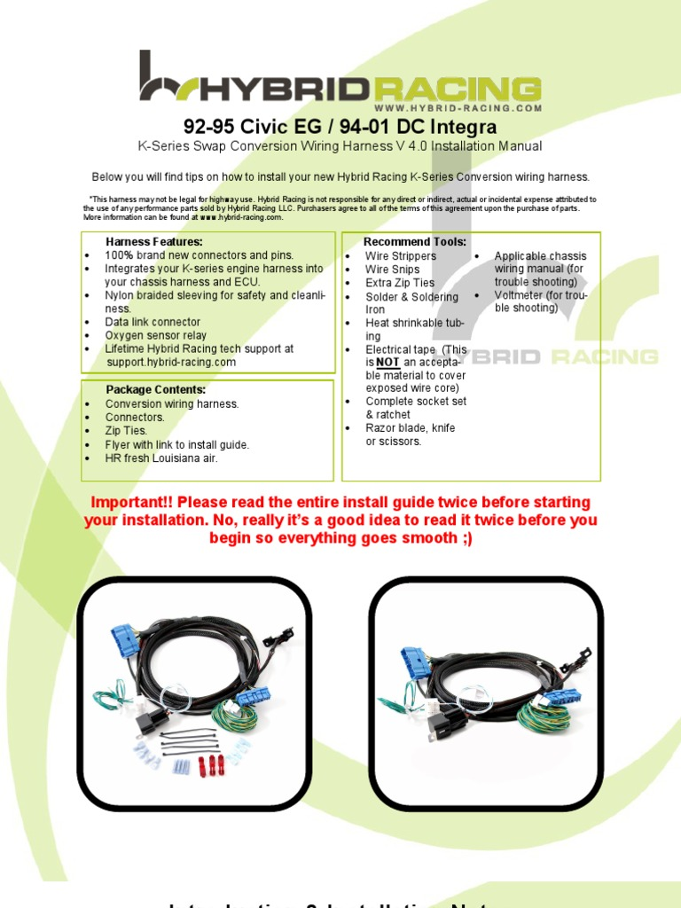 EG.dc Wire Harness Instructions 4.0 | Throttle | Electrical Connector