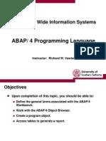 ABAP Programming Language Overviews
