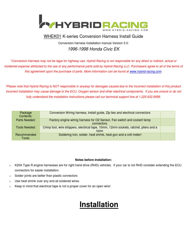 ek wire harness instructions electrical connector sensor