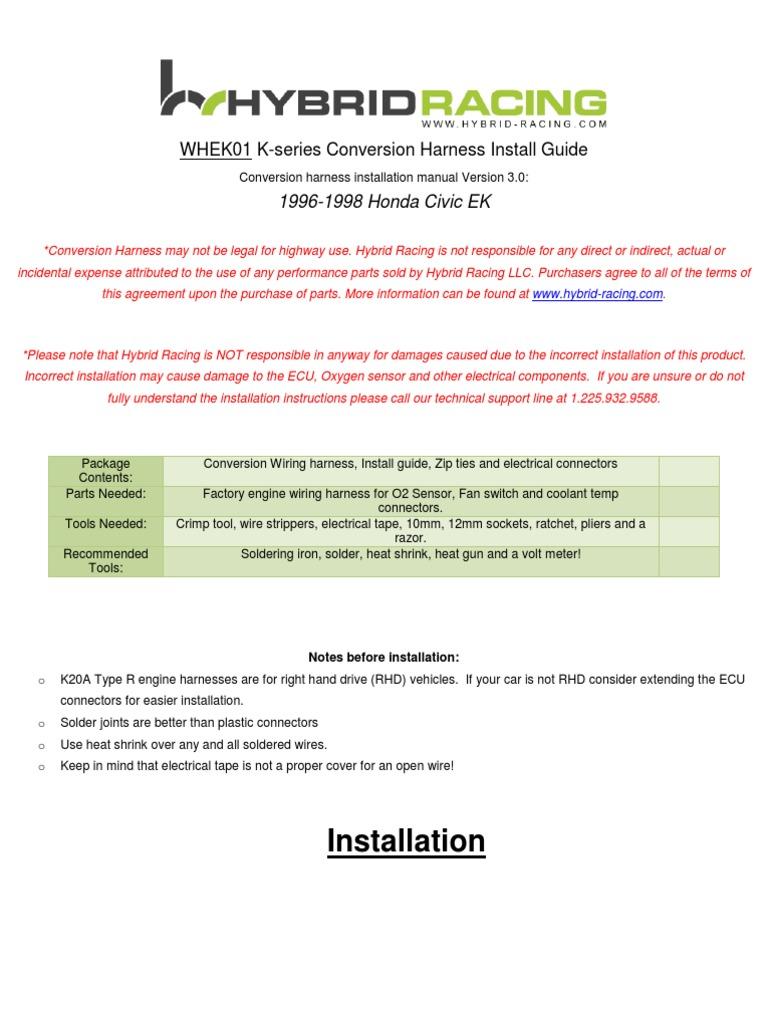 Brilliant Ek Wire Harness Instructions 3 1 Electrical Connector Vehicle Wiring Digital Resources Bocepslowmaporg