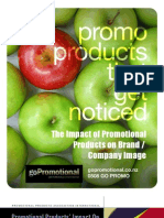 The Impact of Promotional Products on Company / Brand Image