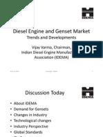Idema Presentation Backup Power Diesel Engine and Genset