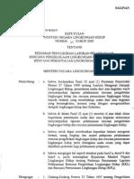 Kepmenlh45 Tahun 2005 Pedoman Laporan Rkl Rpl