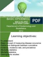 [CRP II] (2012.03.15) Basic Epidemiologic Measure and Vital Statistics