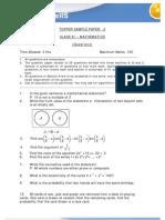 Class Xi Math Sample Paper