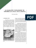 """El petroglifo """"esteliforme"""" de Tobarrillas la Baja. Yecla (Murcia)."""