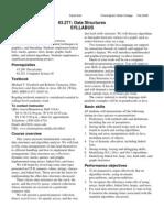 Data Structure Syllabus
