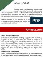 E-Learning Excel VBA Programming Lesson 1
