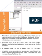 E-Learning Excel VBA Programming Lesson 4