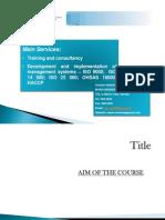 Quality Assurance Management 2012