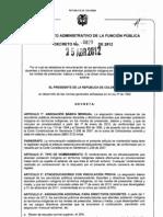 Decreto 0829 de 2012 - Docentes Etnoeducadores
