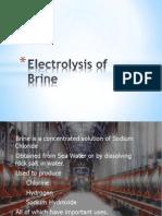 Electrolysis of Brine