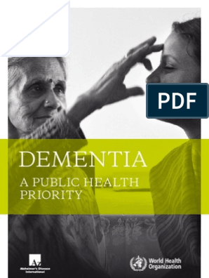 WHO Dementia a Public Health Priority   Dementia   Caregiver