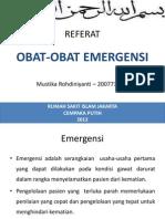 Referat - Anes Obat Emergensi
