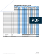 Duct Static Pressure Calc Sheet