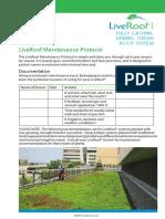 LiveRoof Maintenance Protocol