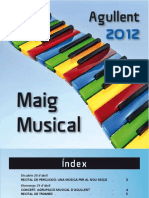 Programa Maig Musical Agullent 2012