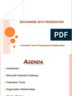 Exchange 2010 Federation