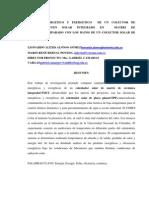 Analisis Energetico y Exergetico de Un Colector de Almacenamiento Solar Integrado en Matriz de