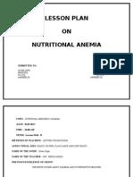 Lesson Plan Anemia
