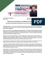 Press Release - Debate - 05-01-2012