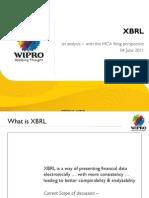Indian XBRL Presentation by Wipro