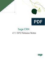 Sage CRM71 SP2 Release Notes
