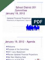 Minooka 201 Financial Projections 19 Jan 2012
