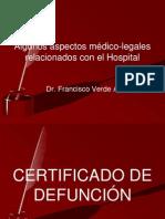 Algunos aspectos médico-legales relacionados con el Hospital