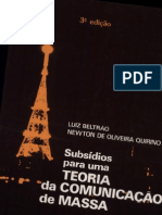 Subsídios para uma teoria da comunicação de massa - Luiz Beltrão