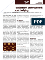 Intellectual Property Magazine - Charles Colman Louis Vuitton Penn Law School Article 'Lessons in Trademark Enforcement - Bullion Without Bullying'