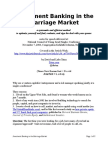 Investment Banking in the Marriage Market